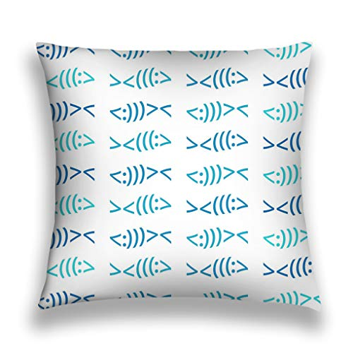 rongxincailiaoke Kissenbezüge Throw Pillow Cover Pillowcase modern Christian Fish Symbol Pattern Beach Colors Beautiful Available jpg png formats Graphic Sofa Home Decorative Cushion Case 18