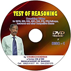 SBI / IBPS PO / Clerk Coaching Videos on Reasoning Ability by a Banker - Tamil (Pack of 4 DVD)