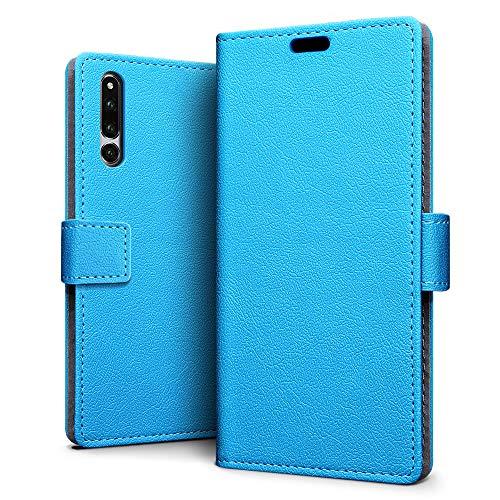 SLEO Hülle für Huawei Honor Magic 2,PU Leder Case Cover Tasche Schutzhülle Flip Case Wallet im Bookstyle für Huawei Honor Magic 2- Blau