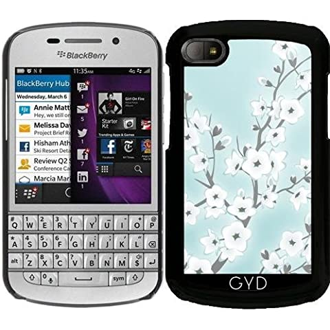 Funda para Blackberry BB Q10 - Flores De Cerezo Blanco De Menta by Nina Baydur