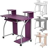 TecTake Mesa de ordenador de escritorio juvenil estudiante PC trabajo muebles - disponible en diferentes colores - (Púrpura | No. 401061)