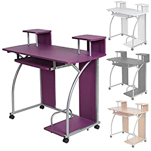 Tectake Computer Desk Work Table Youth Student Office Work Station Furniture Different Colours