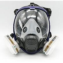 Traje para pulverización de pintura de 7 piezas para máscara de gas de cara completa 6800, con respirador
