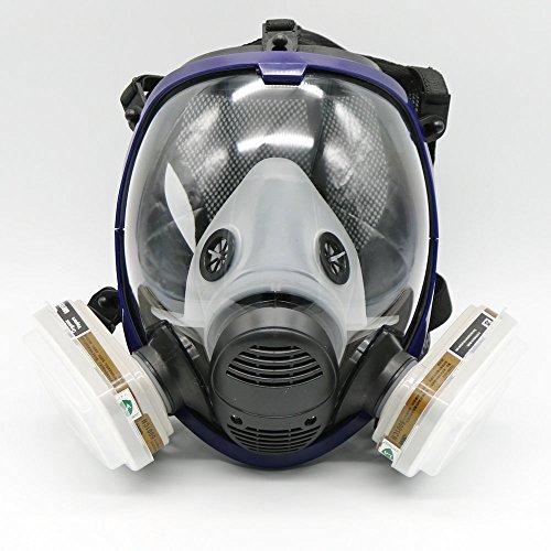 maschera antigas a facciale pieno, 7 pezzi per pittura a spruzzo, 6800
