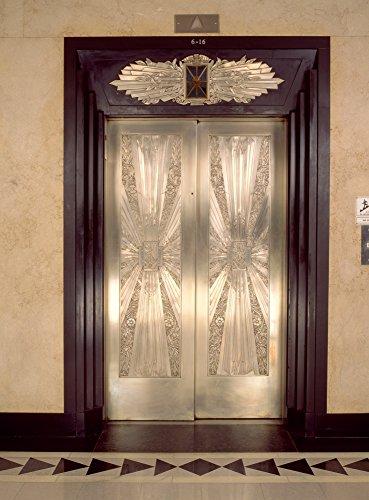 Panoramic Images - Nickel metalwork Art Deco Elevator Doors Two North Riverside Plaza 400 West Madison Street Chicago Illinois USA Photo Print (91,44 x 60,96 cm)