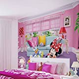 Disney Minnie Mouse - Wallsticker Warehouse - Fototapete - Tapete - Fotomural - Mural Wandbild - (1674WM) - XL - 254cm x 184cm - Papier (KEIN VLIES) - 2 Pieces