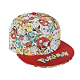 Pokemon Jungen Cap Baseballmütze (Rot, 55)