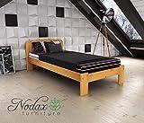 "New sturdy Bed ""Sara"" Solid wood Pine , Oak , Alder , Walnut (ALDER, 90_x_190_cm)"