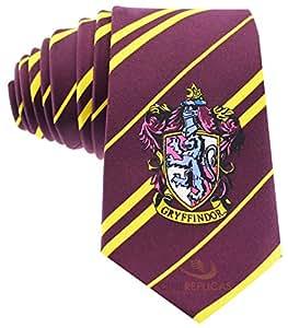 Cravate Harry Potter par Cinereplicas® ● Avec Pochette Zip ● Couleurs Officielles ● Micro Fibre (Gryffondor)