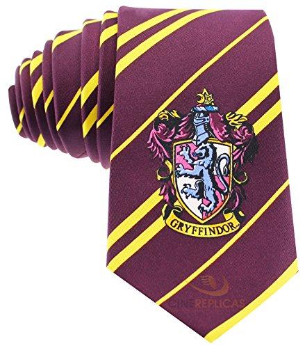 Cinereplicas - Harry Potter - Cravate Unisexe - Réplique Exacte - Licence Officielle - Maison Gryffondor - Taille Unique - 100 % Microfibres - Rouge et Jaune