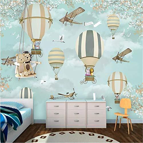 DXBH 3D mural grande HD dibujos animados infantiles papel avión decoración de...