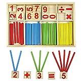 YouMiYa Baby Holz Block Montessori Educational Spielzeug Mathematische Intelligenz Stick Baustein Geschenk