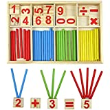 youmiya bebé bloque de madera Montessori educativo juguete matemática Inteligencia Palo bloques de construcción regalo