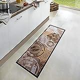 Waschbarer Küchenläufer Coffee Stamp Braun 50×150 cm   102451 - 5