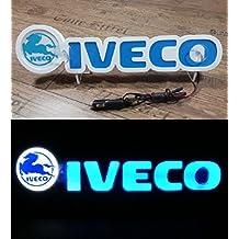 24V LED Letreros 3D Placa Neón Luz para IVECO Camión Azul Mesa Interior Señal ILUMINACIÓN SOLAMENTE