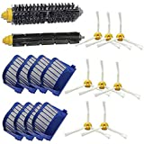 LOVE(TM)Cepillo de cerdas del cepillo batidor flexible + + Cepillo lateral para iRobot Roomba Serie 600 620 625 630 610 650 655 660