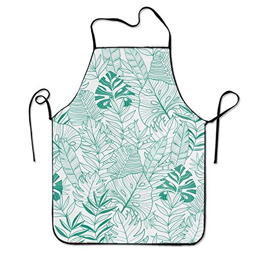 cal Leaves Summer Pinafore Waterproof Cooking Apron Durable Easy Cleaning Creative Bib for Man and Woman Standar Size ()