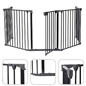 Todeco – Reja de Protección, Barrera de Seguridad para Chimenea – Tamaño plegado: 80 x 68 x 14 cm – Material: Plástico…