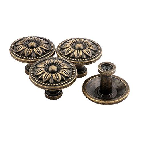 sourcingmap® 4Stk Haushalt Metall Vintage Stil Schrank Türgriff Pull Knob Bronze Ton DE de -