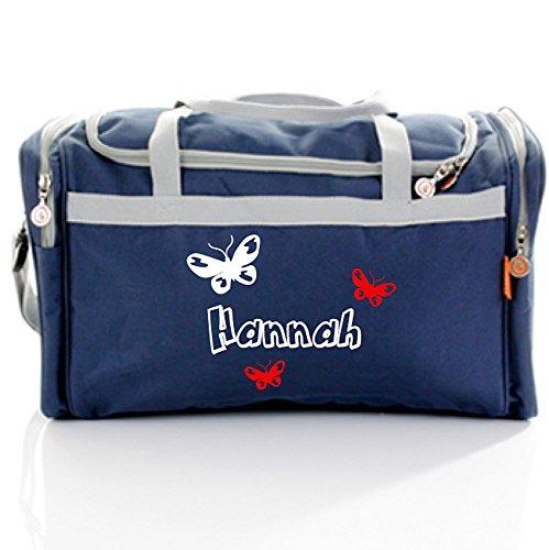 Bulbby Kindersporttasche marine Motiv butterfly (weiß-rot)