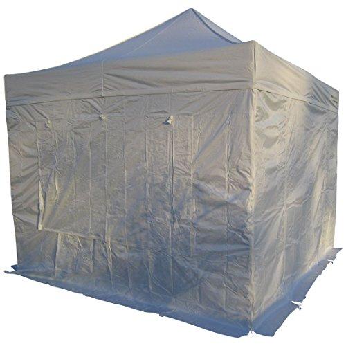 3x3m ALU Profi Faltzelt Marktzelt Marktstand Tent 40mm QUAD Metallgelenken und FEUERHEMMENDEN PLANEN von AS-S