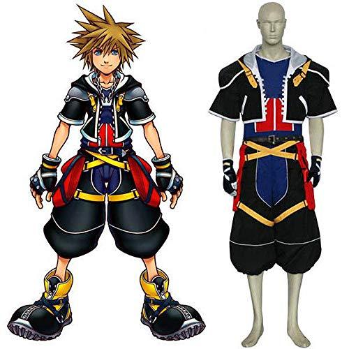 I TRUE ME Beste Cosplay Anime Kleidung Königreich Herz - Sora 1 Generation - Grundfarbe Kostüm für Männer, - Spielzeug Königreich Kostüm