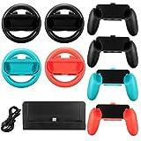 MYAMIA 10 En 1 Carga Soporte Controlador Grip Soporte Volante Interruptor De Nintendo