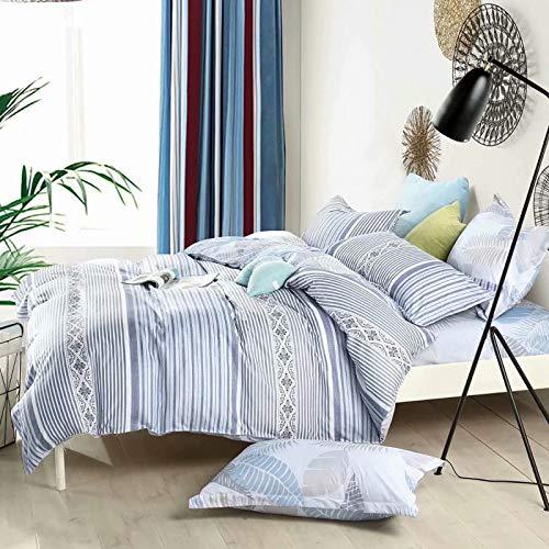 Shatex Bettwäsche-Set, luxuriös, 5-teilig, Daunenalternative Gesteppte Queen-Size-Bettdecken-Set, 100% Polyester, 1 Bettbezug, 1 Bettrock, 2 Kissenbezüge -