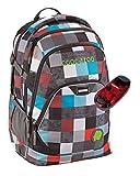 Coocazoo Schulrucksack EVVERCLEVVER2 mit LED-Sicherheitslicht - viele Farben und Dessins (Checkmate Blue Red)