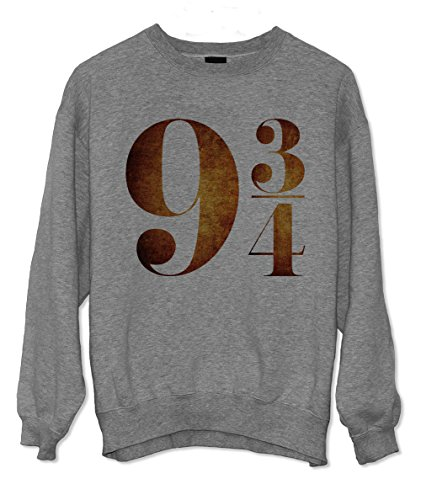 Platform 9 3/4 Train Station Wizard Magic Sweatshirt Grau Medium