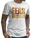 Stylotex Herren T-Shirt Basic Fear Los Angeles, Farbe:Weiss;Größe:XXL
