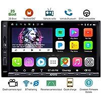 ATOTO A6 Android Auto Navigation Stereo - 2 x Bluetooth & Schnellladung - Premium A6Y2721PB 2G/32G Auto Unterhaltung Multimedia Radio, WiFi/BT Tethering Internet, Unterstützung 256G SD &mehr