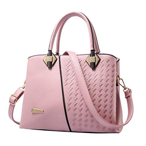 YouPue Frauen Handtasche Elegant Henkeltaschen Shopper Tasche Umhängetasche Crossbody Tasche #_Rosa