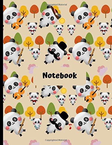 Notebook: Cute Panda Kawaii Novelty Gift - College Rule Notebook 8.5 x 11