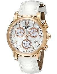 Tissot T0502173611200 - Reloj analógico de mujer de cuarzo con correa de piel blanca