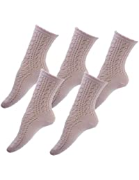**Great Value** Ladies Mega 5pk Pink Pelerine Socks