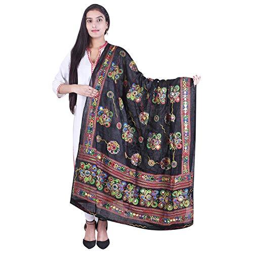 Banjara-Womens-Kutch-Work-Cotton-Dupatta-Chakachak