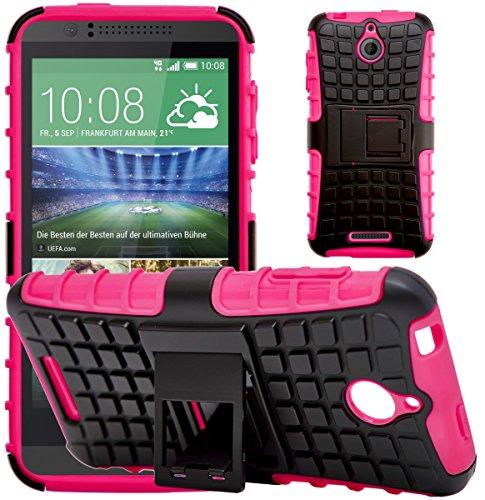 G-Shield Hülle für HTC Desire 510 Stoßfest Schutzhülle mit Ständer - Rosa (Armor Htc 510 Desire Case Slim)