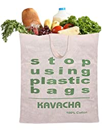 Kavacha 100% Cotton Vegetable Grocery Shopping Bag/Durable / Reusable Multipurpose/Regular Usable Grocery Bags...