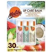 Malibu - Bálsamo para labios con SPF30, sandía, menta y vainilla (12 ml)