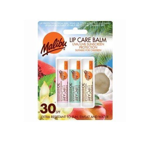 Malibu Blister Lipbalm with SPF30, Watermelon/Mint/ Vanilla 12 ml