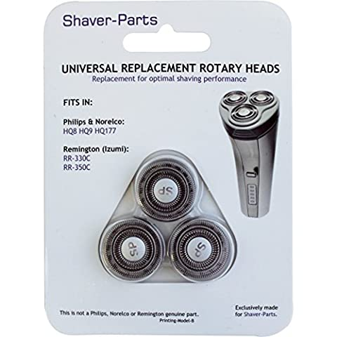 Shaver-Parts Alternative Scherköpfe für Philips HQ8, HQ9, HQ177