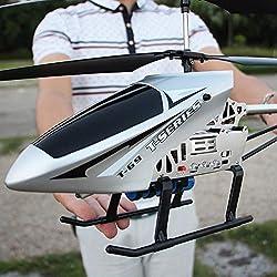 Kikioo Alta calidad Super grande Radio Control remoto 3.5 Canal 2.4 GHz Gyro RC Helicóptero LED Interior Helicóptero al aire libre Estable Fácil de aprender Buena Operación Boy Aviones de juguete para