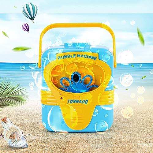 mxjeeio Automatisches Blasen-Maschinen-Gebläse für die Kinder, angetrieben durch beide Plug-in oder Batterien, im Freien / Innengebrauch,12x6.5x18.5cm,3X AA Batteries (not Included