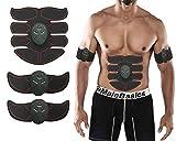 Electroestimulador Abdominales Cinturon,EMS Muscular Estimulador Abs Fit Ejercitadordel Cuerpo para el Entrenamien Fitness Dispositivo Para Hombres y Mujeres