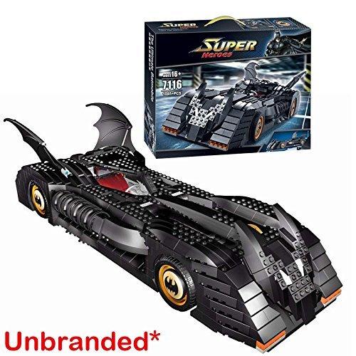 Preisvergleich Produktbild OHNE KENZEICHEN! Dunkel Ritter Heroes Batmobile Auto - Baukasten 1045-tlg. #7116