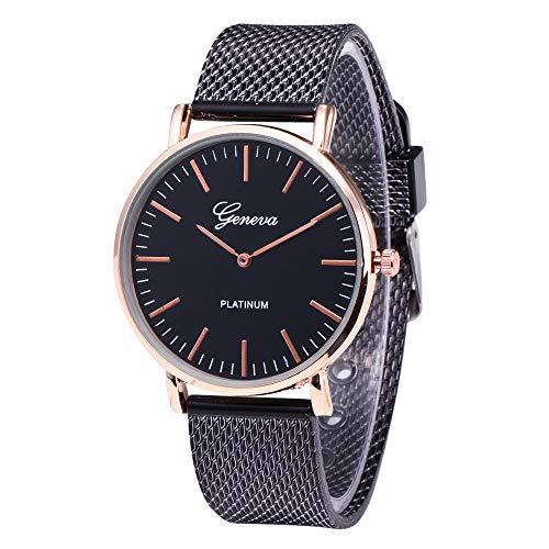 Altsommer Frauen Sport Quarz Uhr Kunststoffarmband mit Glas Uhr,Armband mit 2cm Bandbreite,Analog Quarzuhr mit Dornschließe Damen Uhr für Damen Herren, 25cm Bandlänge (D)