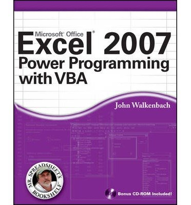 EXCEL 2007 POWER PROGRAMMING WITH VBA [WITH CDROM] (MR. SPREADSHEET'S BOOKSHELF) BY WALKENBACH, JOHN (AUTHOR)PAPERBACK