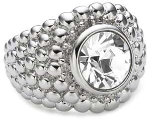 Dyrberg/Kern 332133 Erta Iii Brass Swarovski Crystal Ring Size Q 1/2