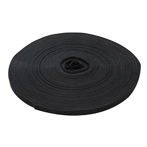 FIXMAN 419854 Selbstklebendes Klettband, schwarz 10 mm x 25 m